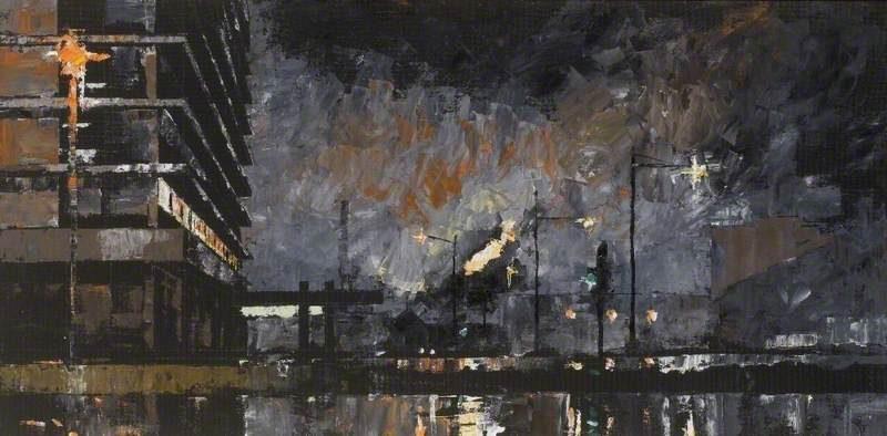 Main Office Corby Steelworks, at Night by Chris Rowlatt
